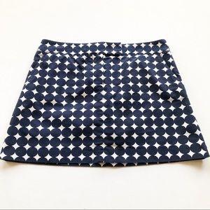 J. Crew Printed Pencil Mini Skirt